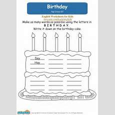 Birthday  English Worksheets For Kids Mocomicom