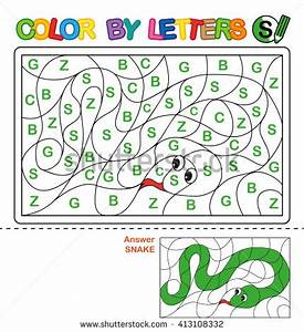 abc coloring book kids color by stock illustration With letter puzzle for kids