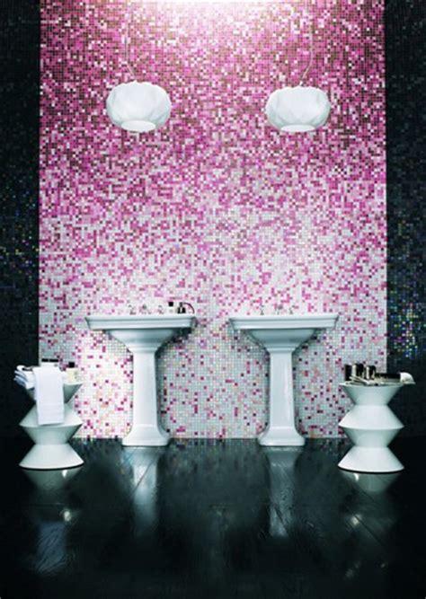 pink mosaic tile bathroom mosaic tile shading blends