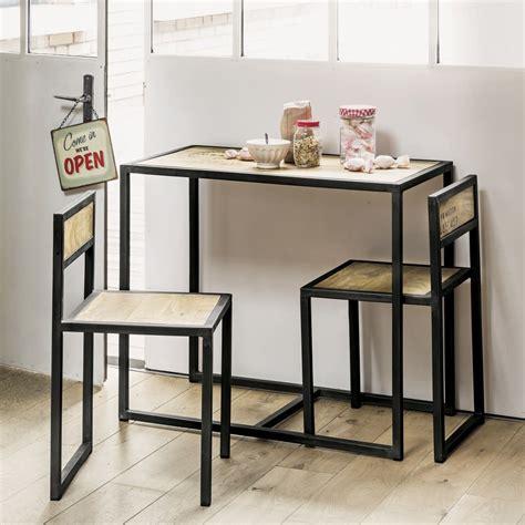 tavoli e sedie sala da pranzo tavolo per sala da pranzo 2 sedie in mango e metallo 90