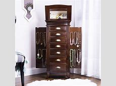 Hillary Jewelry Armoire ~ Rich Walnut Hives and Honey