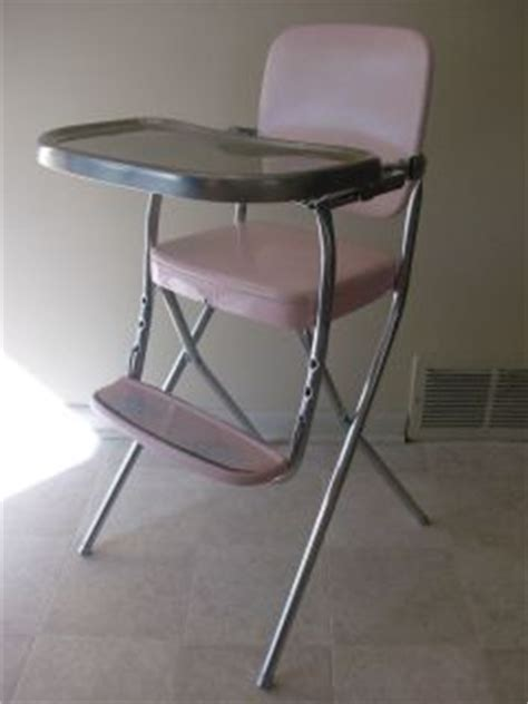 1950 s cosco metal vintage baby high chair clean shape on