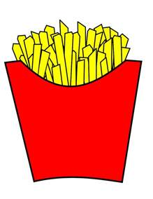 Cartoon French Fries Clip Art