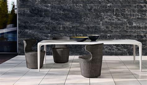 outdoor dining table glass top keith de la plain b b italia