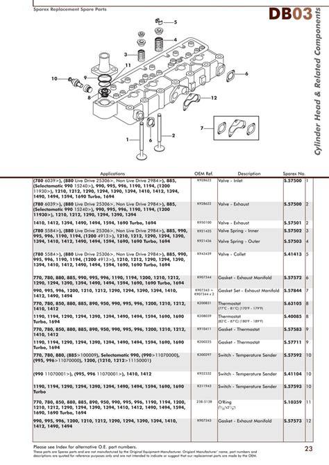 david brown engine page 25 sparex parts lists diagrams malpasonline co uk