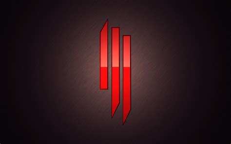 skrillex logo symbol red  hd wallpaper wallpapersbyte