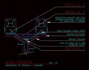 Instalaci U00f3n De Cruceta Y Reflector En Autocad