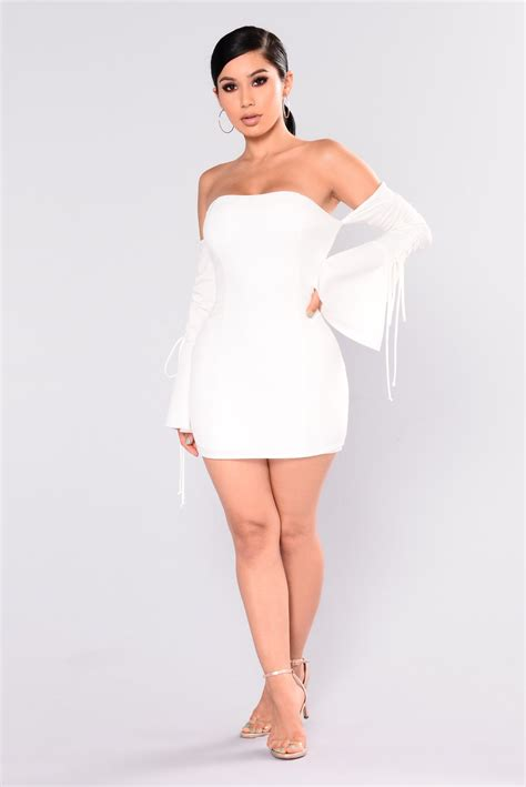 Kannes Off Shoulder Dress - Ivory