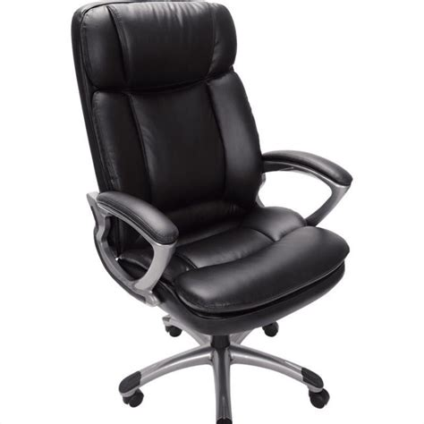 office chair in puresoft black faux leather 43675