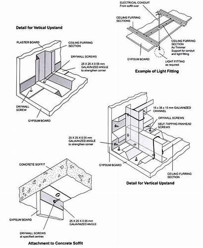 Ceiling False Gypsum Section Wood Pop Pendant