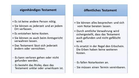 testament vorlage checkliste fuer ein handschriftliches