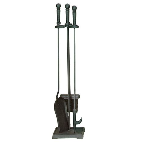 home depot fireplace accessories uniflame 25 in set accessories in black 4