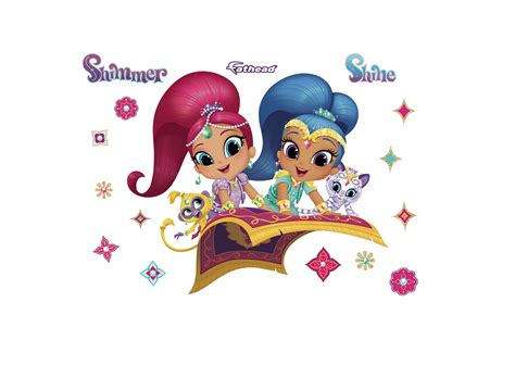 purple bags shimmer and shine wall decal shop fathead for shimmer