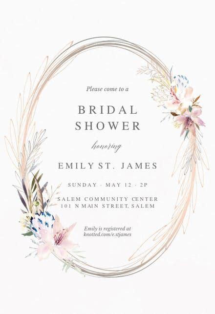 bridal shower invitation templates   island