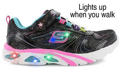 skechers light up dramatic skechers 174 light up shoes combination leather and