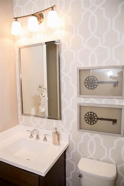 Bathroom Hgtv Neutral Basic Chic Graphic Wall