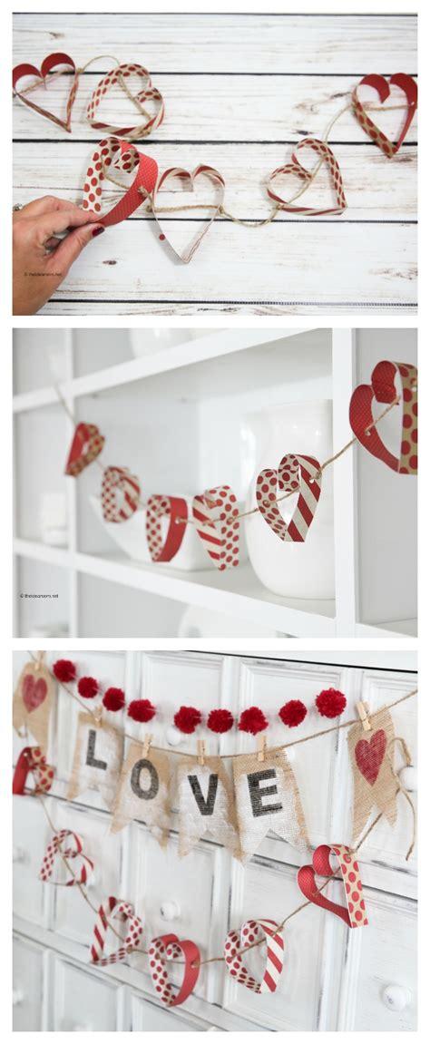 paper heart garland  idea room
