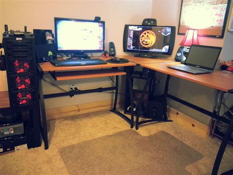 l shaped gaming desk diy l shaped gaming desk thediapercake home trend