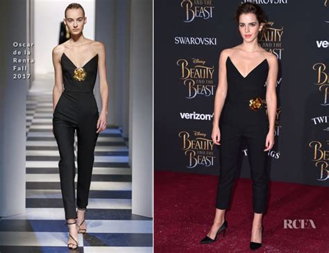 Emma Watson Oscar Renta Beauty The Beast