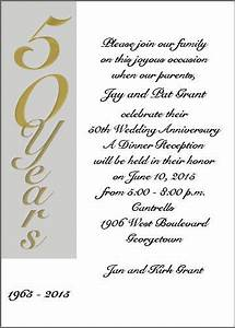 wedding invitation wording 50th wedding anniversary With words for 50th wedding anniversary card