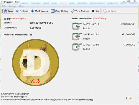 [PSA] Dogecoin Wallet version 1.4 released. You must ...