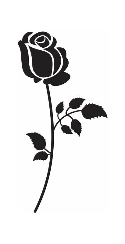 Rose Silhouette Clip Clipart Silhouettes Transparent Yopriceville