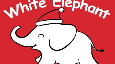 white elephant gift exchange card set  matt dambra