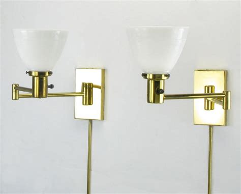 Home Interior 5 Arm Sconce : Modern Brass Swing Arm Sconce Two Three Or Four By