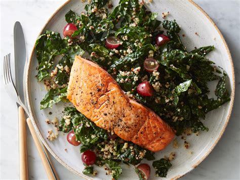 Roasted Salmon With Kale-quinoa Salad Recipe