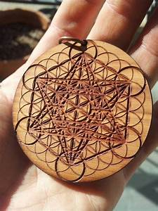 Metatron's Cube & Flower of Life Laser Engraved Reclaimed ...