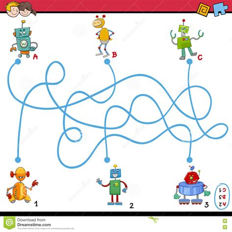 best educational cartoons for preschoolers maze puzzle activity for stock vector image 73084404 328