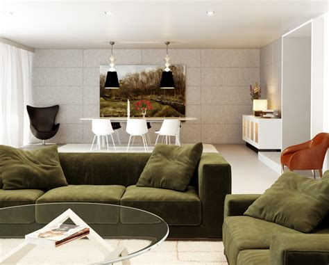 white and green living room chilled out contemporary living rooms Modern