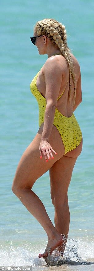 Real Housewives Of Beverly Hills Erika Girardi Wears Tiny Swimsuit On Miami Beach Daily Mail