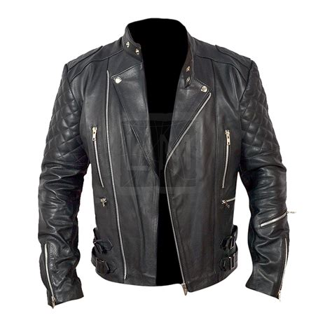 genuine leather motorcycle jacket brando mens motorcycle biker black genuine leather jacket
