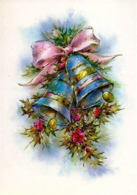 vintage christmas bells card front christmas bells lbxxx новый год и рождество pinterest klockor