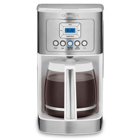 To keep your cuisinart coffee maker in its best condition, you should clean it regularly with some simple household products. Cuisinart Perfect Temp 14-Cup Programmable Coffeemaker White + Extended Warranty 86279089816 | eBay