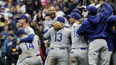 saturdays nlcs los angeles dodgers win game  national