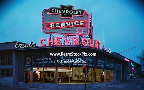 Chevrolet Car Dealership by Vintage Neon Signs At Erwin Chevrolet Car