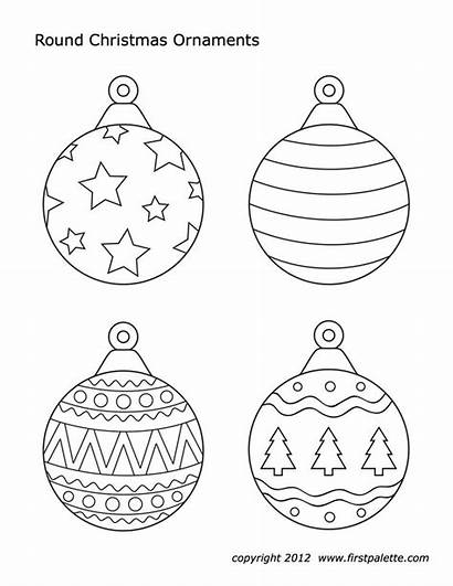 Christmas Ornaments Printable Ornament Coloring Pages Tree