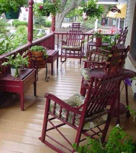 cranberry rockers country porch ideas