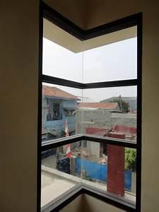 Jendela Aluminium Kaca Sudut Pintu Aluminium Murah Pintu