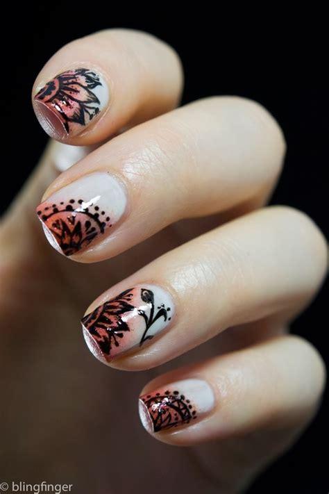 stylish tribal nail art design idea