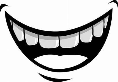Mouth Cartoon Smile Clipart Transparent Teeth Vampire