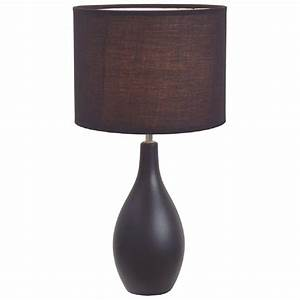 Simple Designs Oval Base Ceramic Table Lamp - 421605