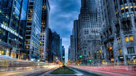computer desktop wallpapers chicago usa city street