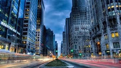 Desktop Street Computer Wallpapers Chicago Usa Skyscrape
