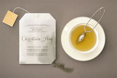 joys diy tea bag bridal shower invitations