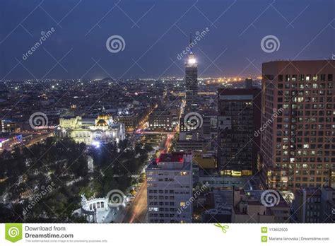 Night View Of Torre Latinoamericana Latin-American Tower ...