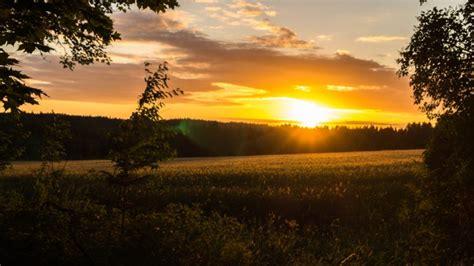 sunset landscape field sweden hd wallpapers desktop