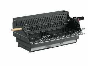 Grille Barbecue Fonte : barbecue bois louqsor grill rectangle 65 x 34 cm 81582 ~ Premium-room.com Idées de Décoration